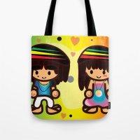 rasta Tote Bags featuring Rasta Bubbahs by I love Bubbah