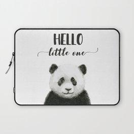 Panda Art Print Baby Animals Hello Little One Nursery Decor Laptop Sleeve