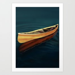 Canoe in Silence Art Print
