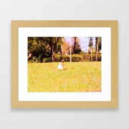 Picking Flowers Framed Art Print