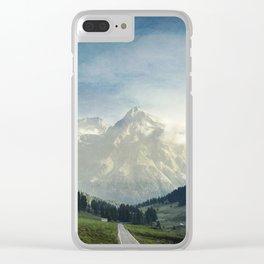 the Italian Alps - Sunlit Suretta Massif Clear iPhone Case
