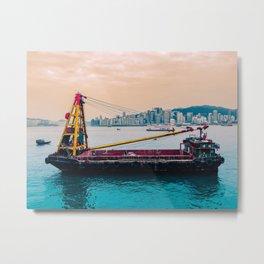 Ship overlooking Hong Kong Metal Print