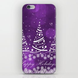 Happy Holidays Purple Magic iPhone Skin