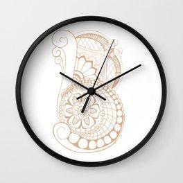 Fancy B Wall Clock