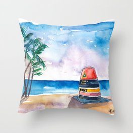 Key West Florida USA Southernmost Point of The USA Throw Pillow