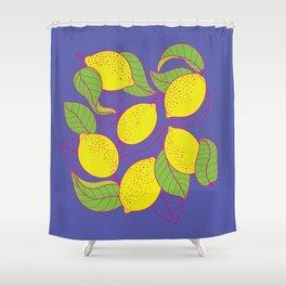 Juicy Lemons Shower Curtain