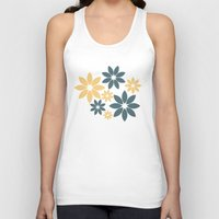 flora Tank Tops featuring Flora by Julia Paige Designs