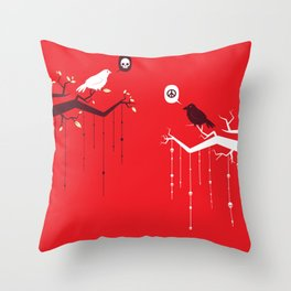 Peace and Death Throw Pillow