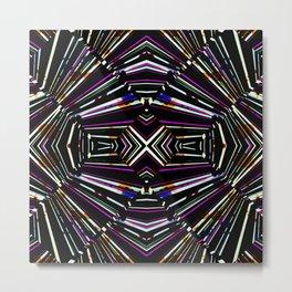 Modern Dark Ethnic Bold Pattern Metal Print