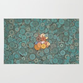 buttons fantasy blue lake Rug