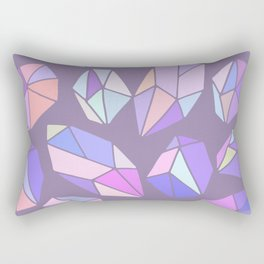 purple pink gem pattern Rectangular Pillow