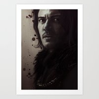 dracula Art Prints featuring Dracula by LindaMarieAnson
