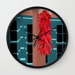 New Mexico Chile Ristra Dooryway Wall Clock
