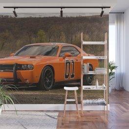Hugger Orange Challenger RT Dukes of Hazard Wall Mural