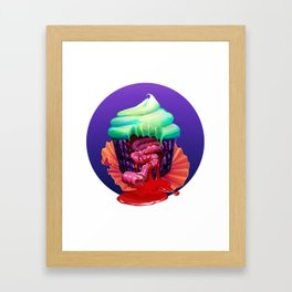 Sweet tooth - circle bg Framed Art Print