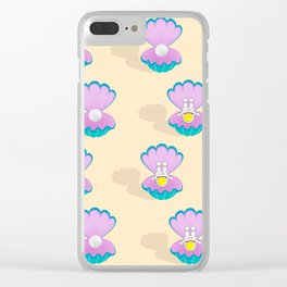 Space Birth of Venus | Astronaut Seashell | Pearl in Seashell | Under the Sea | pulps of wood Clear iPhone Case