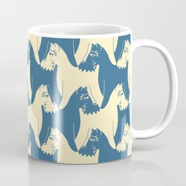 Dog Pattern | Schnauzer | M. C. Escher Inspired Artwork by Tessellation Art Coffee Mug