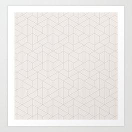 Hexagonal Geometric Pattern Art Print
