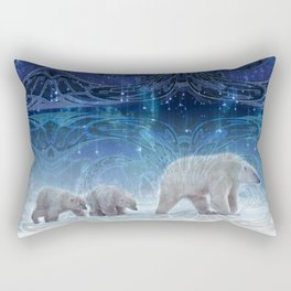 Arctic Journey of Polar Bears Rectangular Pillow