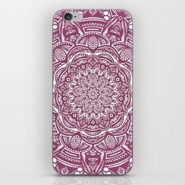 Wine Maroon Ethnic Detailed Textured Mandala iPhone Skin