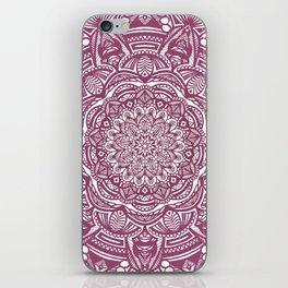 Wine Maroon Ethnic Detailed Textured Mandala iPhone Skin