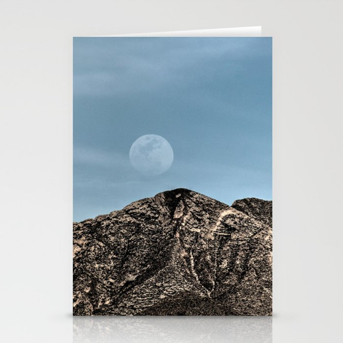 Moon over the Franklin Mountains Stationery Cards