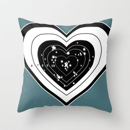 Don't use my heart for Target Practice Throw Pillow
