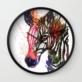 Zebra Splash Wall Clock