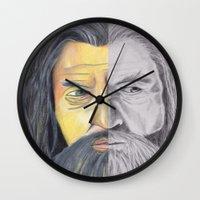 gandalf Wall Clocks featuring Gandalf   by RidnelSilva