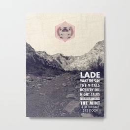 Band Poster: Lade at The MINT Metal Print