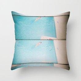lazy daisy Throw Pillow