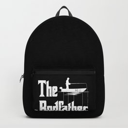 The Rodfather Funny Fishing print Gift for Fisherman Backpack