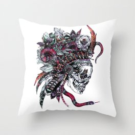 Death God Itzamna Throw Pillow