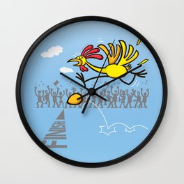 Chicken and egg, scrambled forever in an eternal tie? Wall Clock