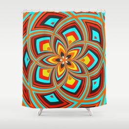 Spiral Rose Pattern C 2/4 Shower Curtain