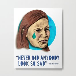 Ugly Cry: Claire Danes Edition Metal Print
