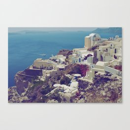 Oia from afar  Canvas Print