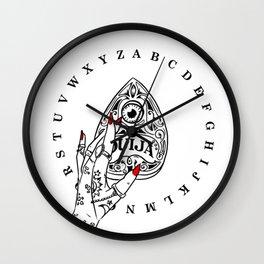 red, ouija, abc Wall Clock