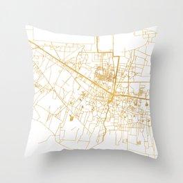 SIEM REAP CAMBODIA CITY STREET MAP ART Throw Pillow