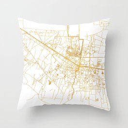 SIEM REAP CAMBODIA CITY STREET MAP ART Throw Pillow