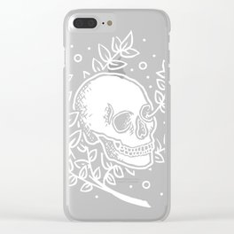 Growth With Departure ~ White Clear iPhone Case