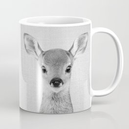 Baby Deer - Black & White Coffee Mug