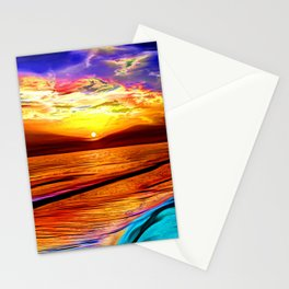 Sunset in Liverpool Bay Stationery Cards