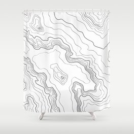 Topography map Shower Curtain