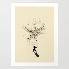 Ninja Moves Art Print