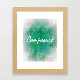 Composure Framed Art Print