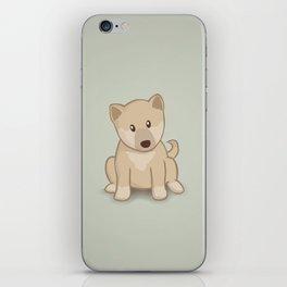 Shiba Inu Dog Illustration iPhone Skin