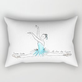 Swan Lake Ballerina Rectangular Pillow