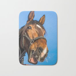 Surprised horse Bath Mat