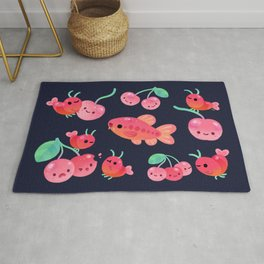 Cherry shrimp and Cherry barb Rug